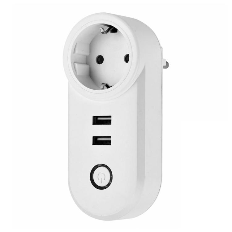 Zigbee EU Dual USB Smart Socket