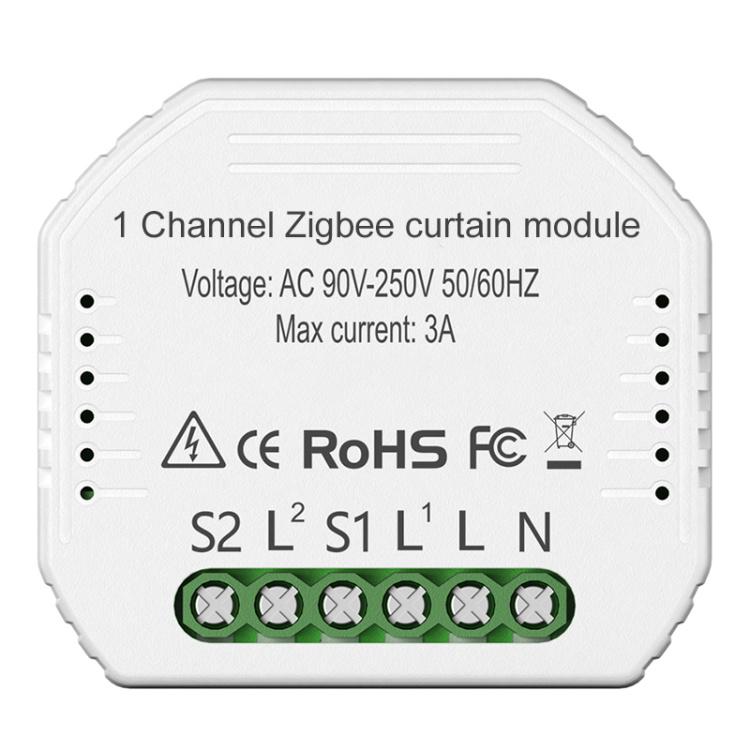 Zigbee 1 Way Curtain Switch Module