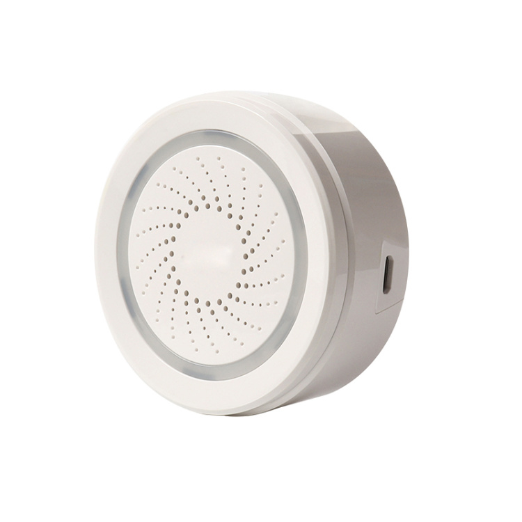 MYQ 3 In 1 Smart Sensor ( Temperature+ Humidity+Siren Alarm)