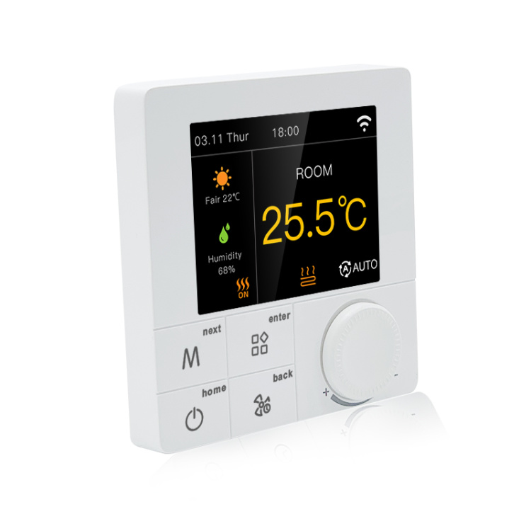 R8C.723 RGB Colorful LCD Screen 3A Smart Wi-Fi Boiler Thermostat Works With Alexa And Google
