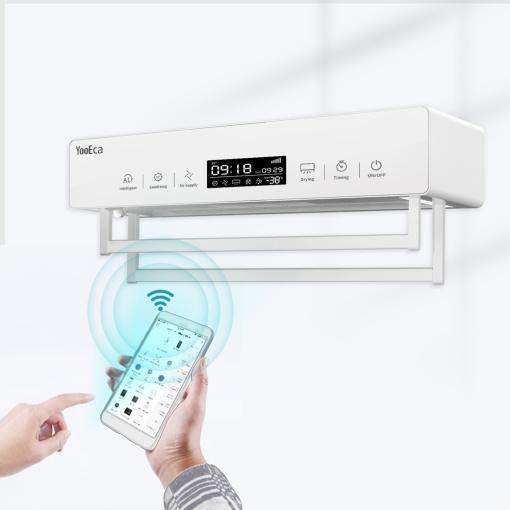 Bathroom Appliance Intelligent Ultrasonic Sterilization 550W Heated Towel Rack