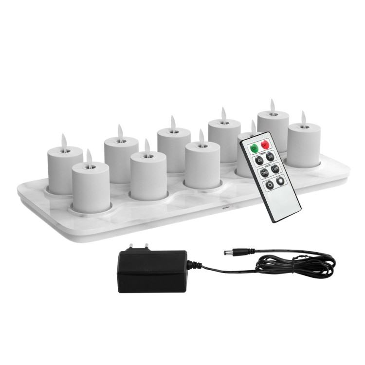 Phone Control Battery Operated Flameless LED Candle Light, Swing Flickering Ambiance Light
