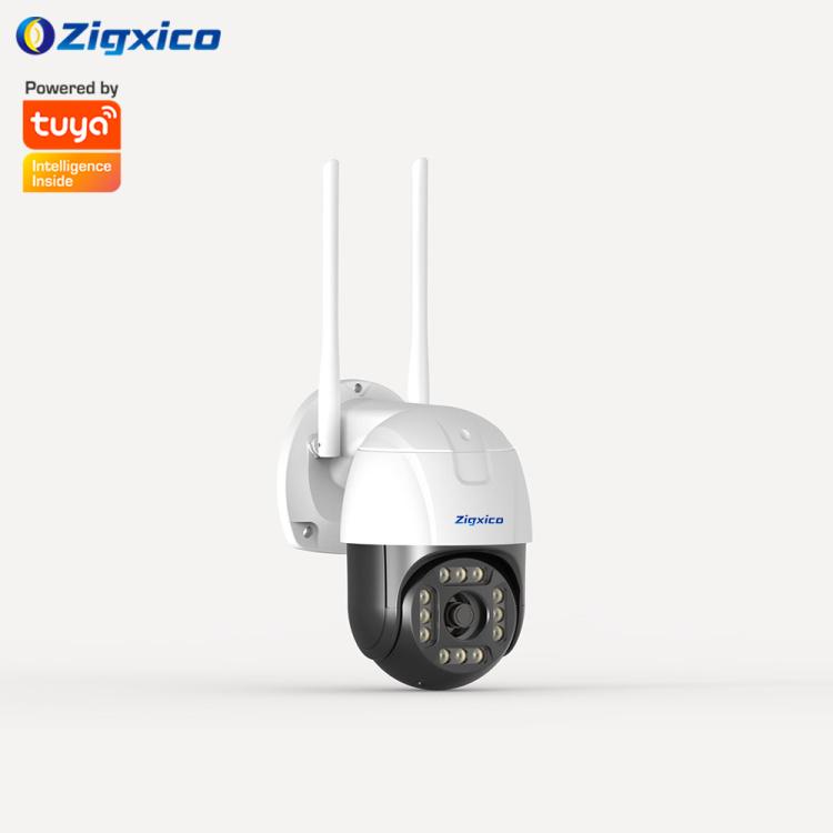 Zigxico 1080P Outdoor Waterproof Mini Speed Dome Camera | Intelligent Dual Light IR & White LED | Motion Detection| Movi