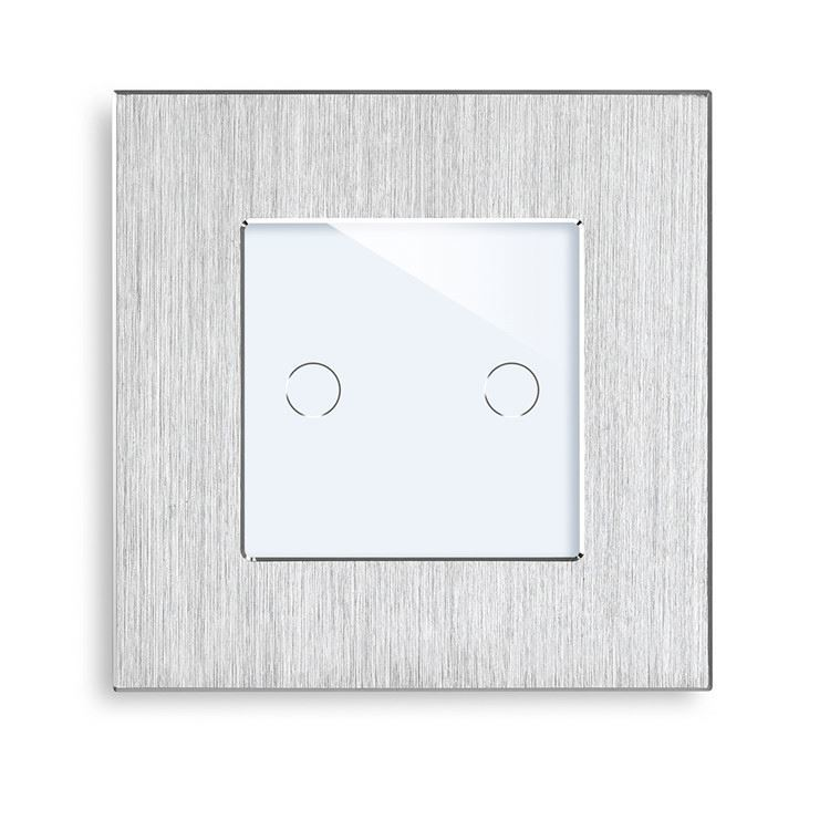 Smart Home Wi-Fi Switch Aluminum Frame Brushed Steel