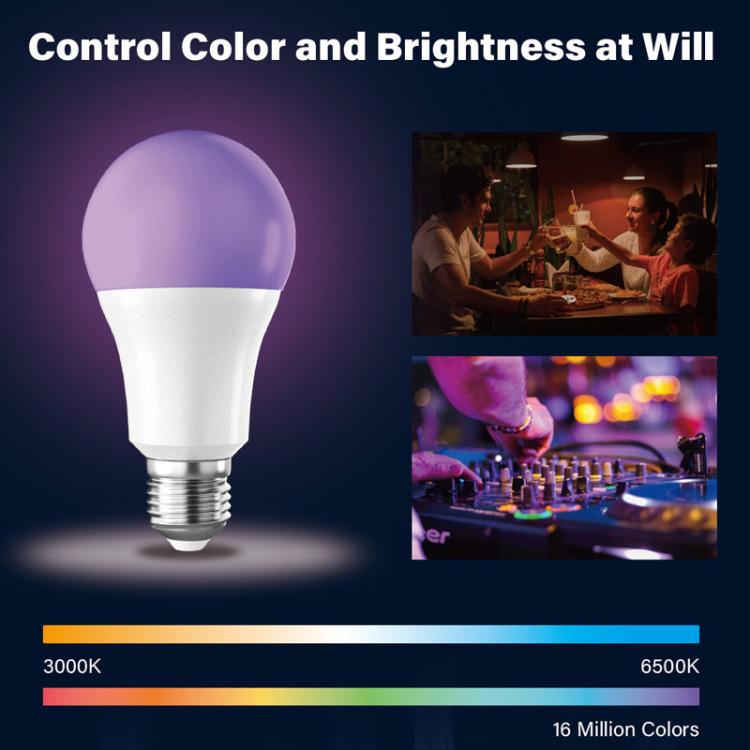 6W A60 CCT+RGB Smart led Bulb
