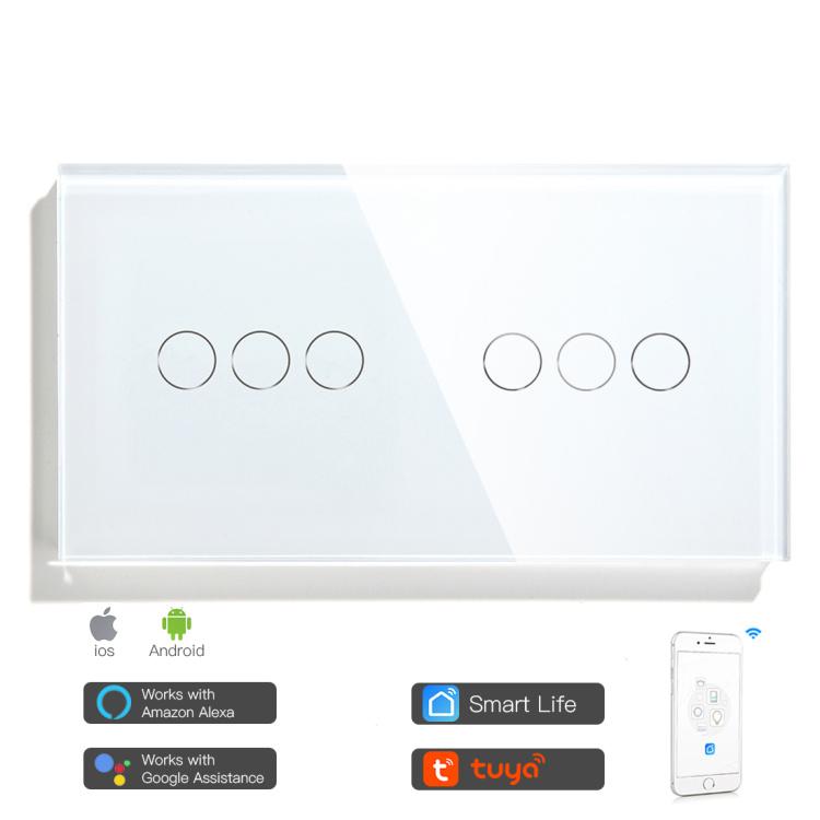 Double Wi-Fi Switch 6 Gang