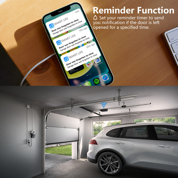EACHEN Wi-Fi Garage Door Opener With Remaind Timer for Forgotten Closing