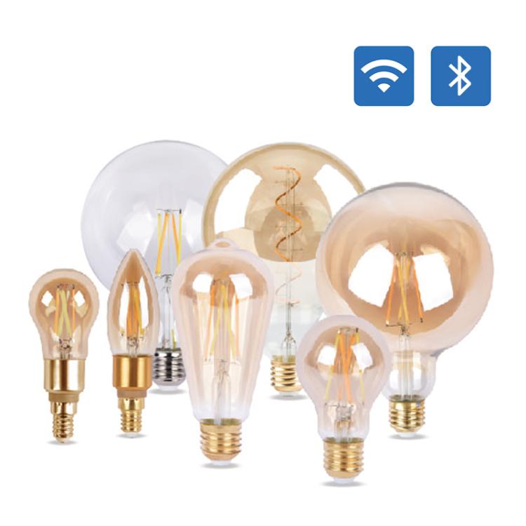 Smart LED Filament Wi-Fi Bluetooth CCT DIM A60 C37 G45 ST64 G125 LED Filament