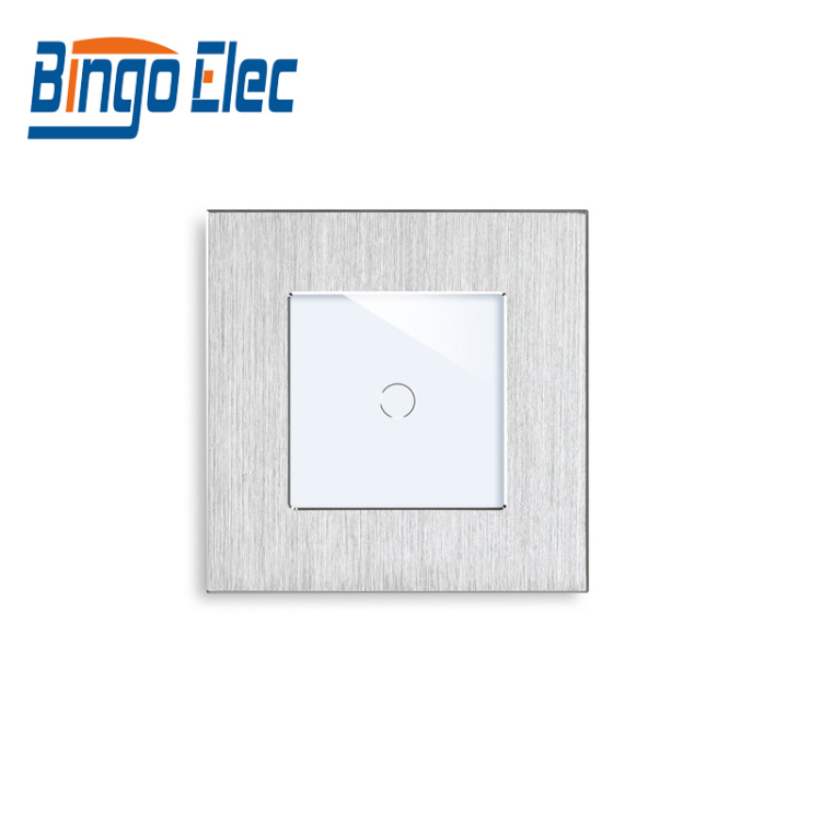 Bingoelec 1 Gang 1 Way Smart Light Switch Neutral and Live Wire Aluminum Panel Tuya Alexa Google Home IFTTT Touch Switch
