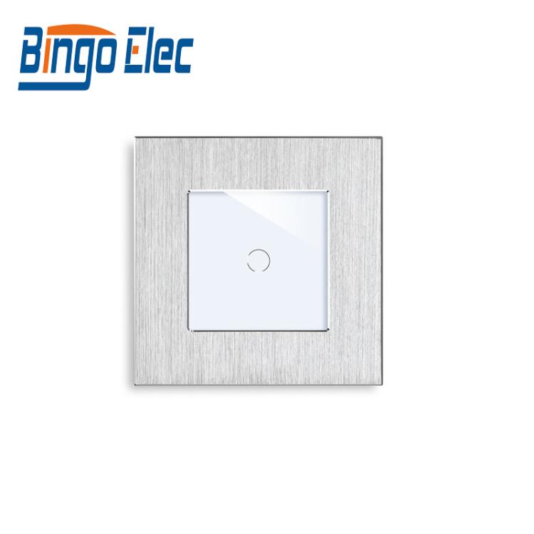 Bingoelec 1 Gang 1 Way Smart Light Switch Neutral and Live Wire Aluminum Panel Tuya Alexa Google Home IFTTT Touch Switch