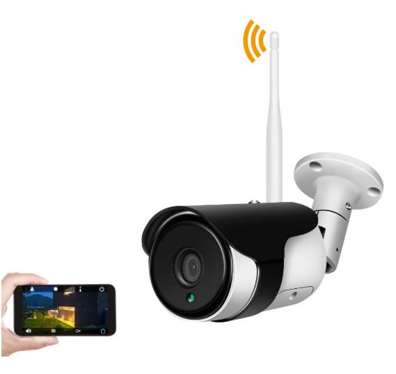 2MP Outdoor Smart Wireless WIFI AI alarm camera, Joyfa security