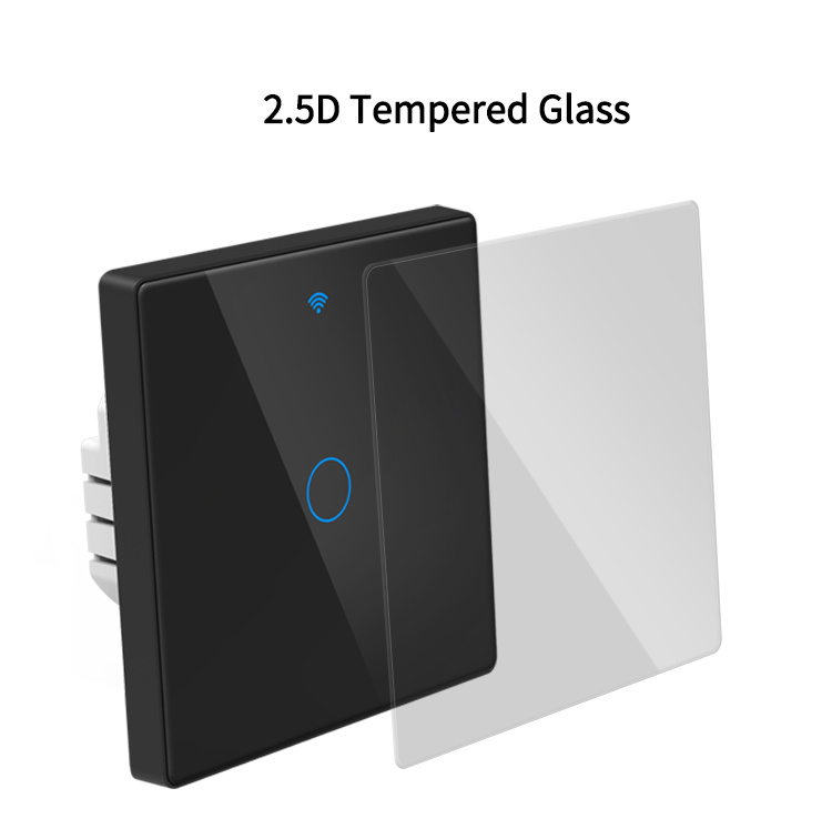 GDKES Wi-Fi+BLE 16A Fingerprint Proof 2.5D Glass Touch  Switch 1 Gang