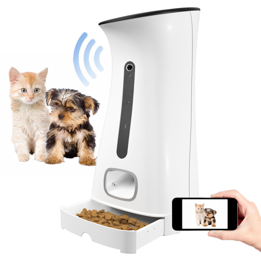Automatic pet feeder with camear  7.5L camera wifi pet feeder for dogs and cats