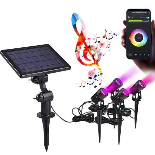 Smart RGB Solar Spotlight