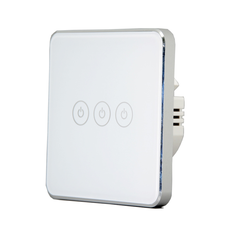 Zigbee Switch Without Neutral Wire Single Live Switch 3 Gang