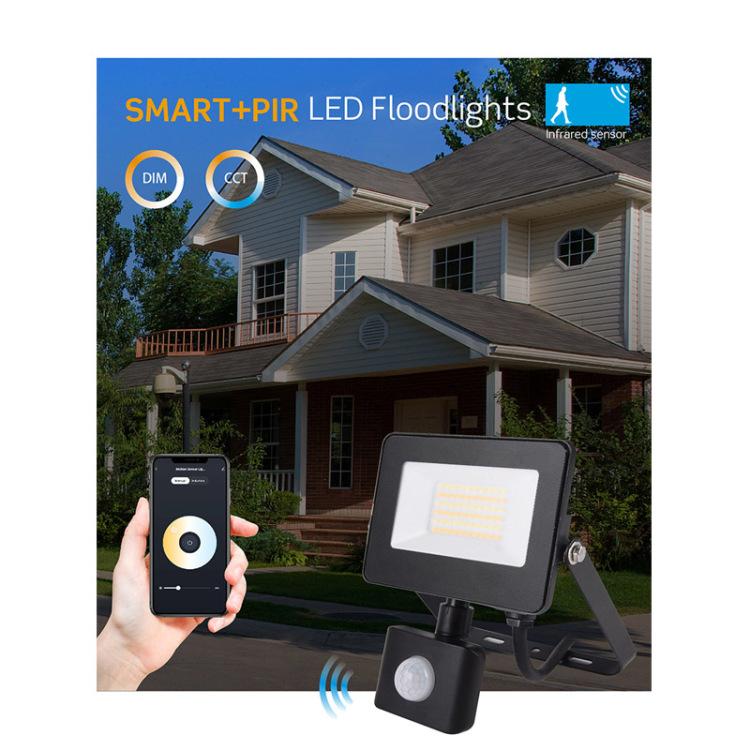 Sensor Smart LED Floodlight RGB+Dimmable