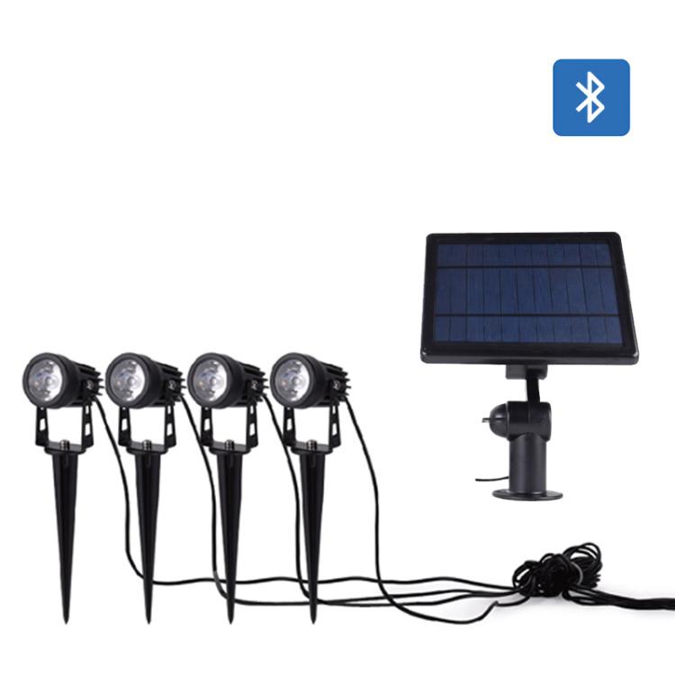 LED Solar Spike Light Bluetooth RGB CCT IP65