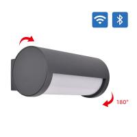 180 ° Adjustable Angle Smart LED Wall lamp IP65 CCT+DIM WiFi Bluetooth