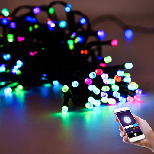 Intelligent Tuya Wi-Fi RGB Color Lighitng Decoration Wedding Lights Outdoor LED Light String