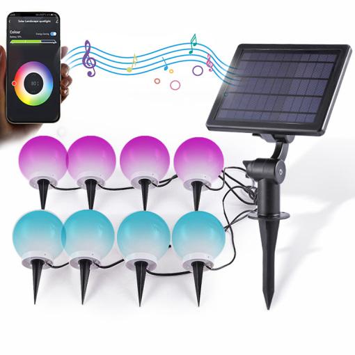 Smart RGB Solar ;Landscape Lights