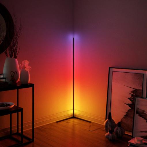 Smart Floor Lamp RGBW Color Changing Corner Light