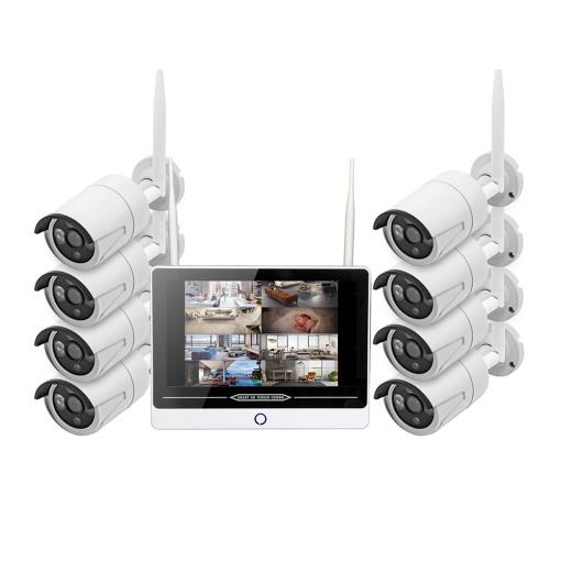 Unistone 8CH Wireless 2MP WIFI NVR Camera Kit with Monitor