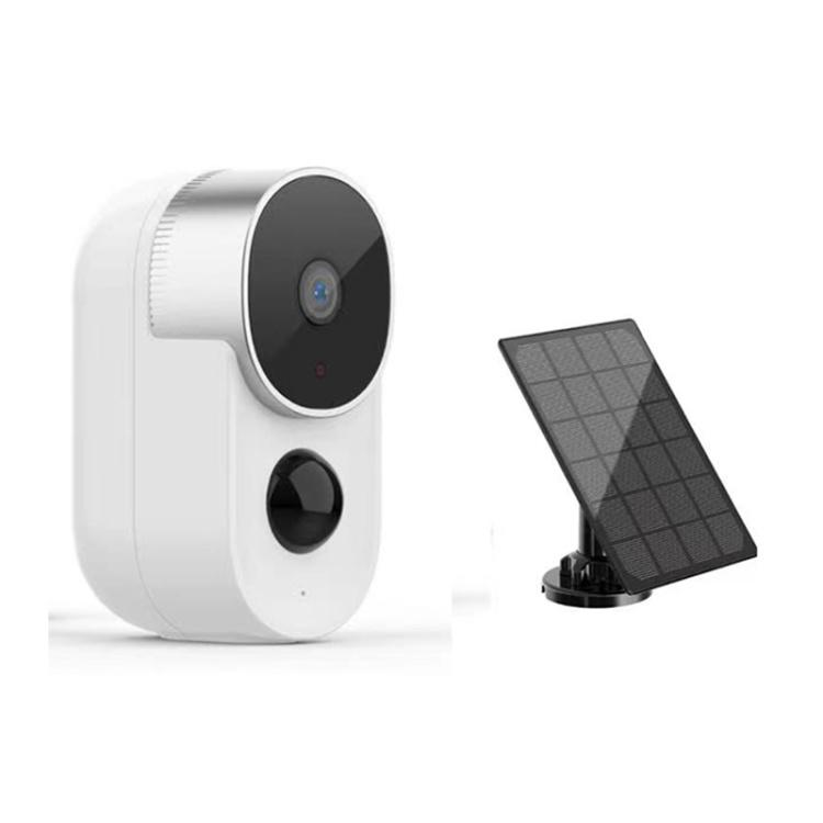 Unistone 2MP 10000mAh Battery Solar Powered Camera Supported Google Home / Alexa