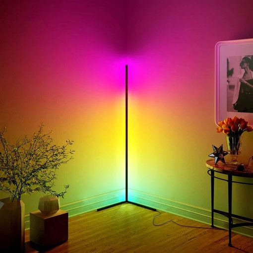 Smart Floor Lamp RGBW Corner Ambience Light Bedroom Music Sysc Moden Stand Lamp