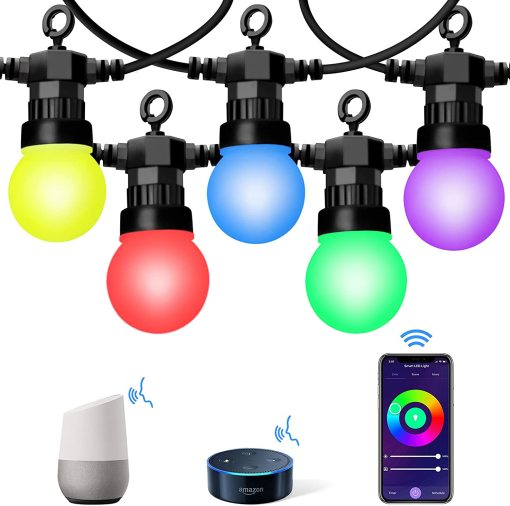 Smart Outdoor String Light RGBIC G50 Patio Festoon Lights Waterproof Holiday Festive Light for Party Wedding