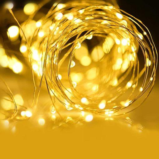 Smart Wi-Fi String Lights Warm White Fairy Lights LED Starry Lights Christmas Tree Decor Lights
