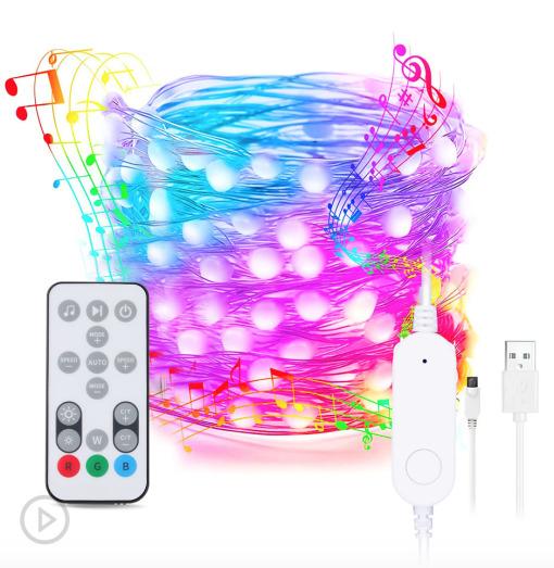 Smart Wi-Fi Fairy Lights Strig RGBW Christmas Decor Lights LED Holiday Festive Lights Outdoor