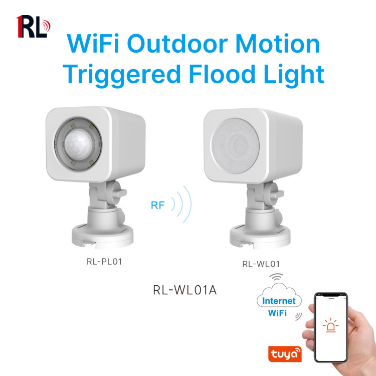 Tuya Smart Motion Triggered Flood Light suitable for outdoor