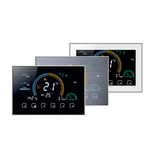 Tuya WiFi Air Conditioner 2 Tube Programmable Temperature Controller Smart Switch Touch Screen Temperature Controller
