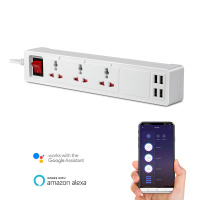 3way Smart Wi-Fi Universal Extension Power Electrical Socket Power Strip with 4USB