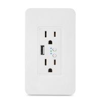 2way Smart zigbee wall socket US stanadard with usb individual switch control socket