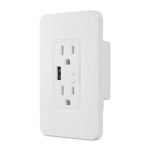 Smart Zigbee Wall Power Electrical US Socket with USB