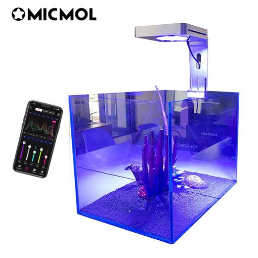 MICMOL Smart LED Aquarium Lamp Dimmable Aquarium Lighting for Saltwater Coral Fish Tanks 45-90cm Natural Spectrum
