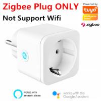 ZigBee Smart F Type Plug Socket EU Plug 16A Power Monitor Works With Alexa Google Home Mini Smart Home Automatiton