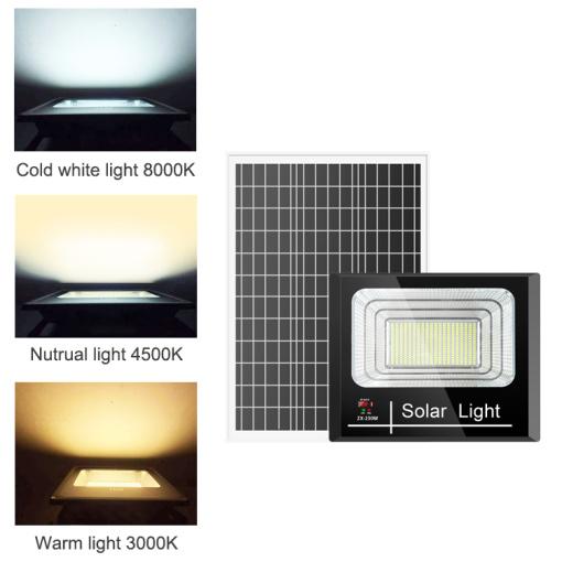 3 Light Colors  Changeable Solar Flood Light