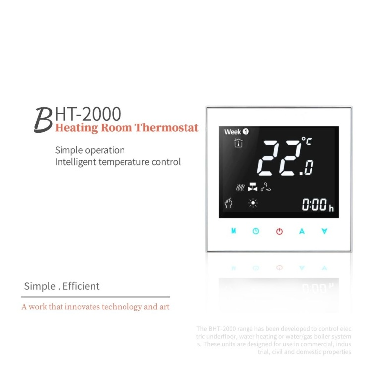 Digital room temperature regulator Smart wireless WiFi thermostat for electric heating/hot water/gas boiler