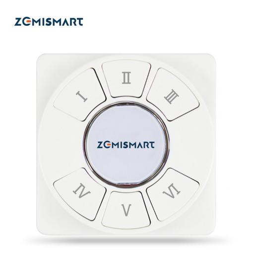 Zemismart Tuya Zigbee 6 Gang Tuya Zigbee Wireless Switch Zigbee 3.0 Sticker Battery Power Remote Control