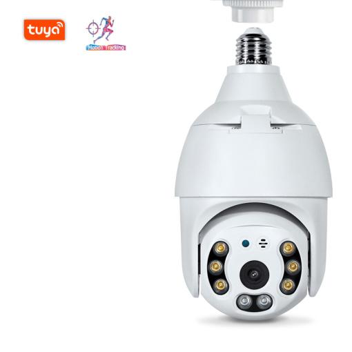 3MP WIFI E27 Lamp Bulb IP Camera Night Vision PTZ Security Camera CCTV Video Surveillance work with Tuya Smart Life