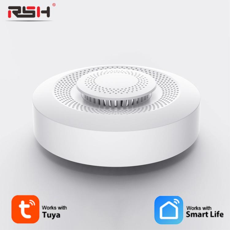 Tuya Zigbee Wifi Smart Home Air Box C02 Carbon Dioxide Detector Alarm Detector Formaldehyde VOC Sensor Temperature Humid