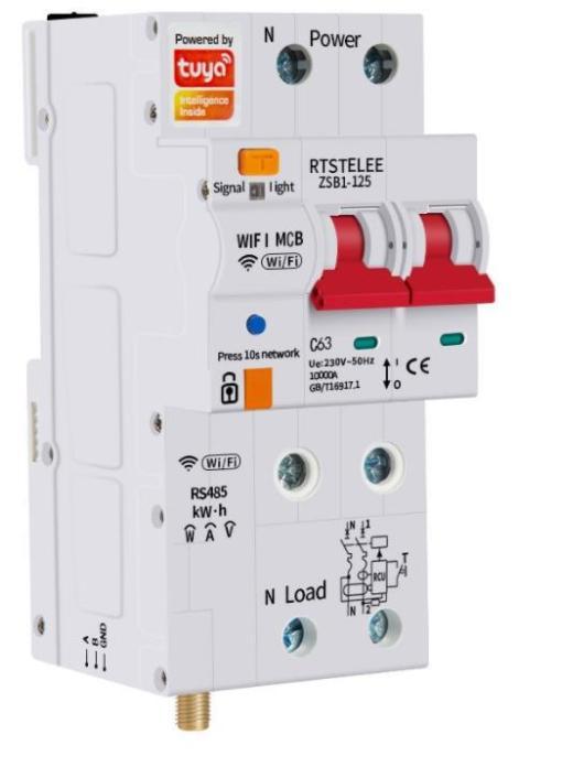 Graffiti Wi-Fi metering intelligent circuit breaker leakage protector