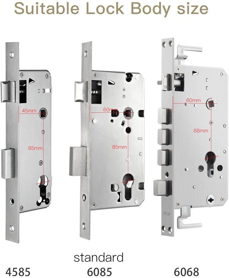 WiFi  5-in-1 unlock  anti-peeping smart Lock ,Fingerprint Door Lock with Reversible Handle