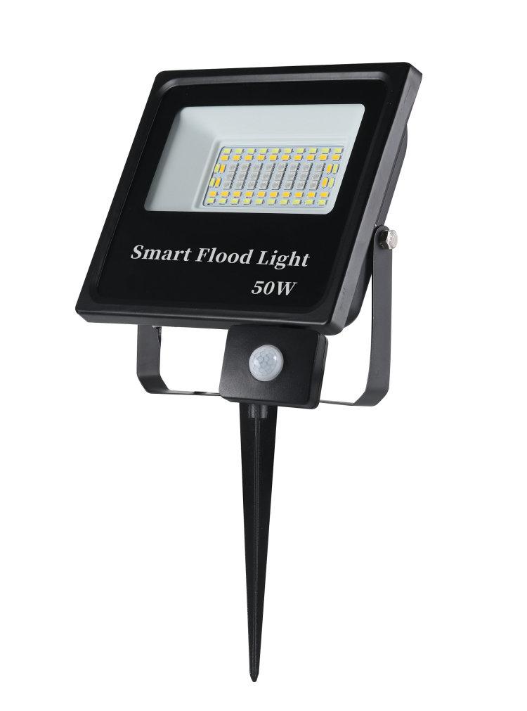 LED Security Lights Motion Sensor Light Outdoor 50W RGBCW Motion Detected Flood Light for Garage, Yard, Entryways