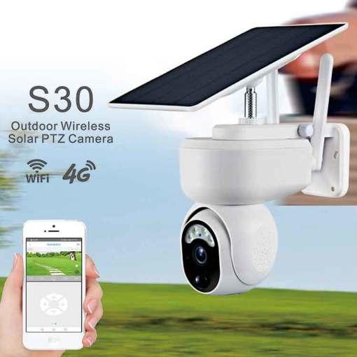 1080P PTZ Wifi Solar IP Camera Outdoor Surveillance Waterproof CCTV Camera Smart Home Two-Way Voice Battery Long Standby_copy