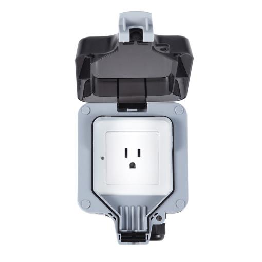 US America IP66 Waterproof Dustproof Outdoor Switch Socket Smart Outlet