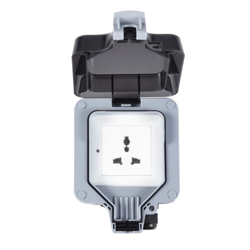 Universal Mutifuntional Smart Wi-Fi Ble Outdoor Socket Waterproof IP66 Rating Socket Switch