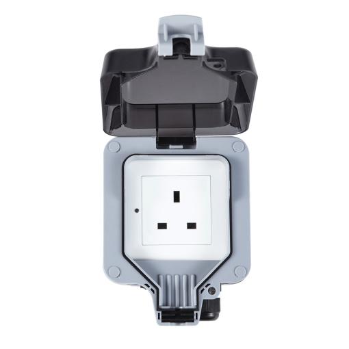 Smart Wireless Remote Control UK Wi-Fi Outdoor Waterproof Outlet Single Switch